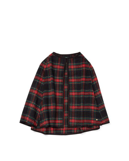 Ralph Lauren - Red Tartan Plaid Cape - Lyst