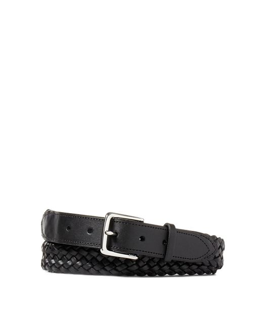 Polo Ralph Lauren | Black Braided Vachetta Leather Belt for Men | Lyst