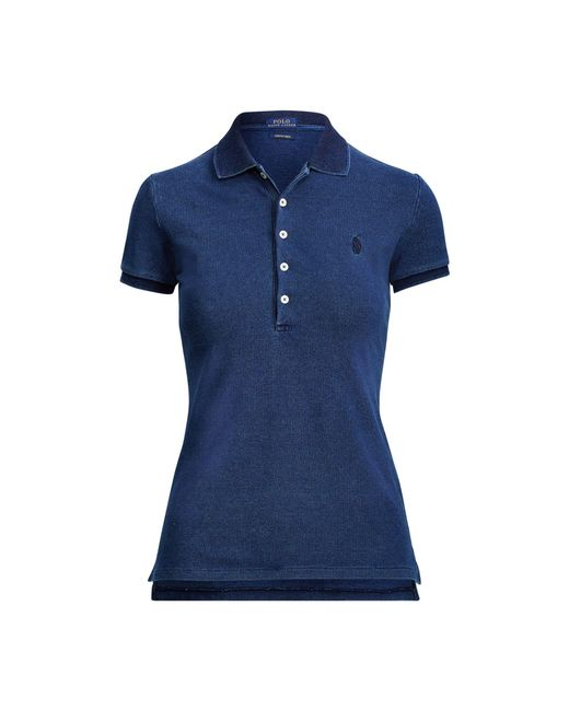 Polo Ralph Lauren - Blue Slim Fit Weathered Mesh Polo - Lyst