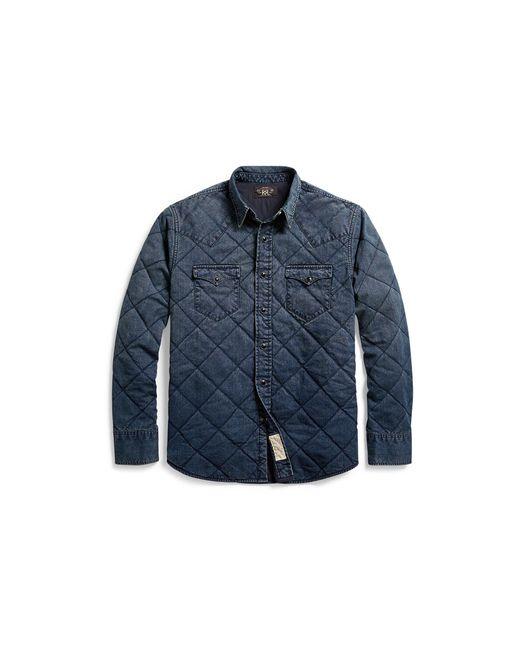RRL | Blue Indigo Western Shirt Jacket for Men | Lyst