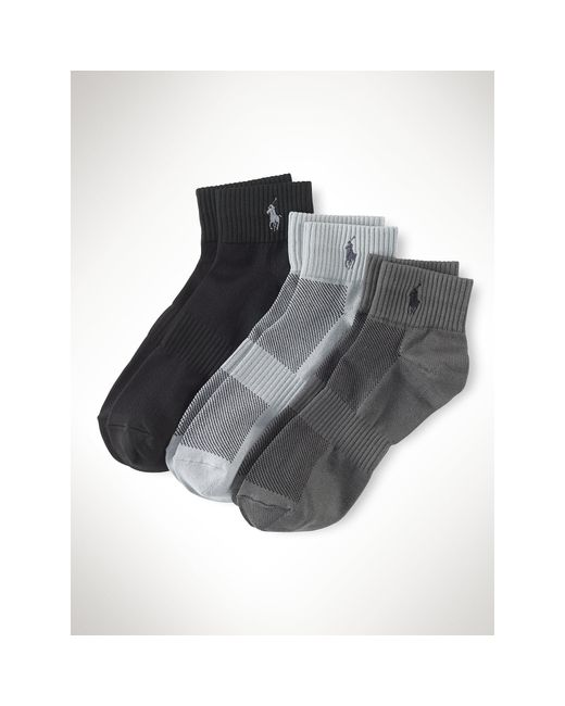 Polo Ralph Lauren | Gray Quarter Sport Sock 3-pack for Men | Lyst