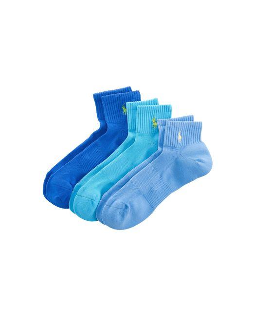 Polo Ralph Lauren | Blue Quarter Sport Sock 3-pack for Men | Lyst