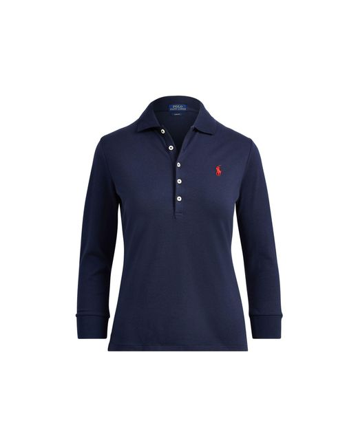 Polo Ralph Lauren - Blue Slim Fit Stretch Polo Shirt - Lyst