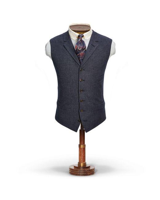 RRL - Blue Merino-blend Vest for Men - Lyst