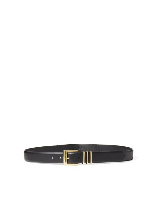 Ralph Lauren | Black Triple-keeper Vachetta Belt | Lyst