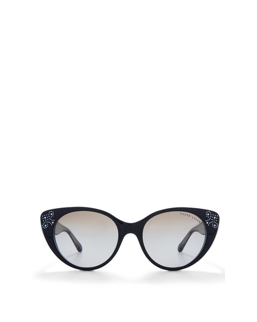 Ralph Lauren | Black Cat Eye Spectator Sunglasses | Lyst