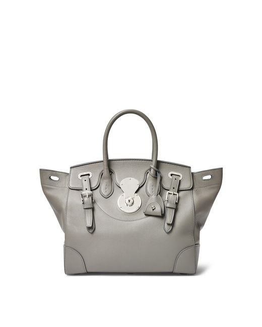 Ralph Lauren - Gray Tumbled Leather Soft Ricky 33 - Lyst