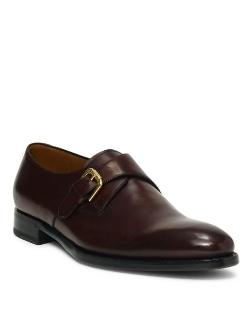 Ralph Lauren - Black Darnell Calf Monk-strap Shoe for Men - Lyst