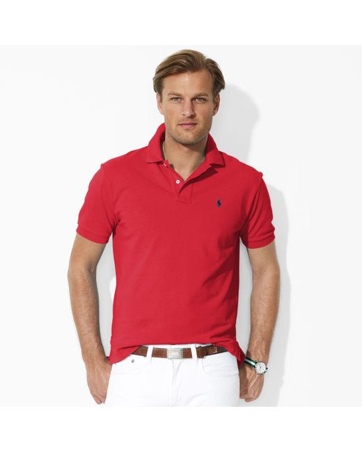 Pink Pony | Red Classic Fit Mesh Polo Shirt for Men | Lyst