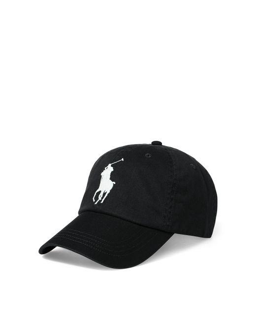 Polo Ralph Lauren | Black Big Pony Chino Baseball Cap for Men | Lyst