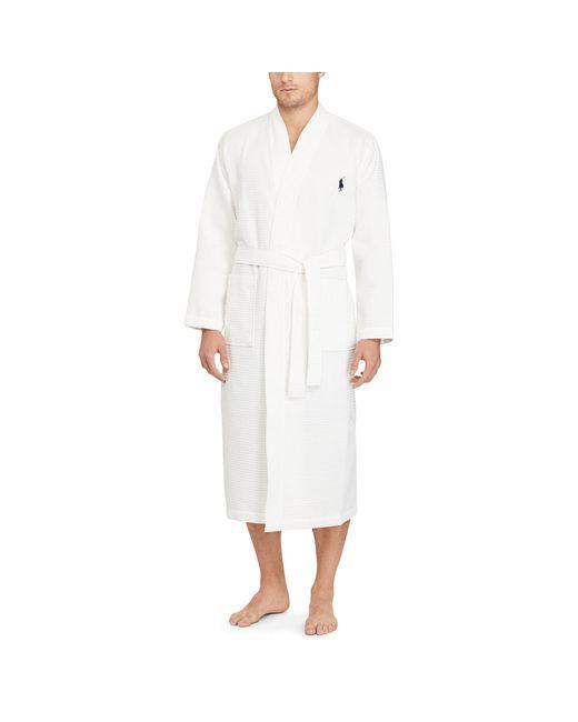 Polo Ralph Lauren | White Waffle-knit Cotton Kimono Robe for Men | Lyst