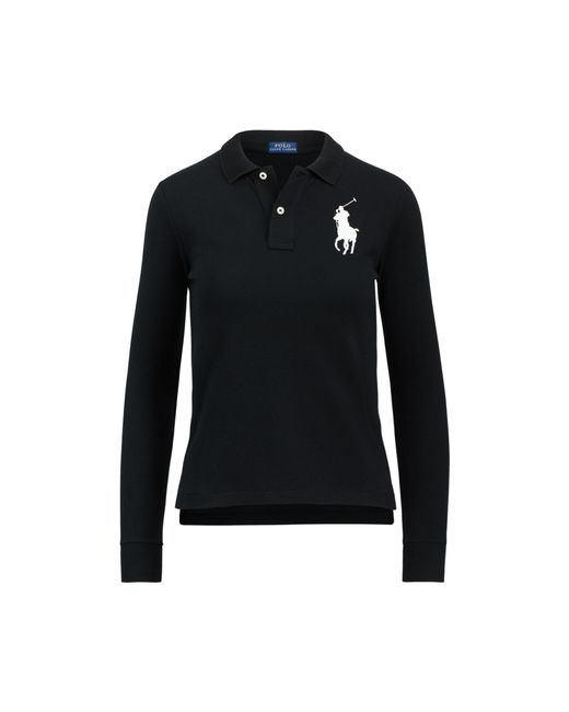 Polo Ralph Lauren - Black Skinny Fit Big Pony Polo - Lyst
