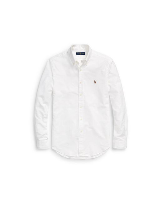 Polo Ralph Lauren - White Slim Fit Oxford Shirt for Men - Lyst