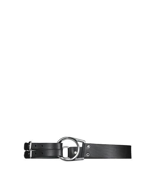 Pink Pony | Black Leather Tri-strap Belt | Lyst