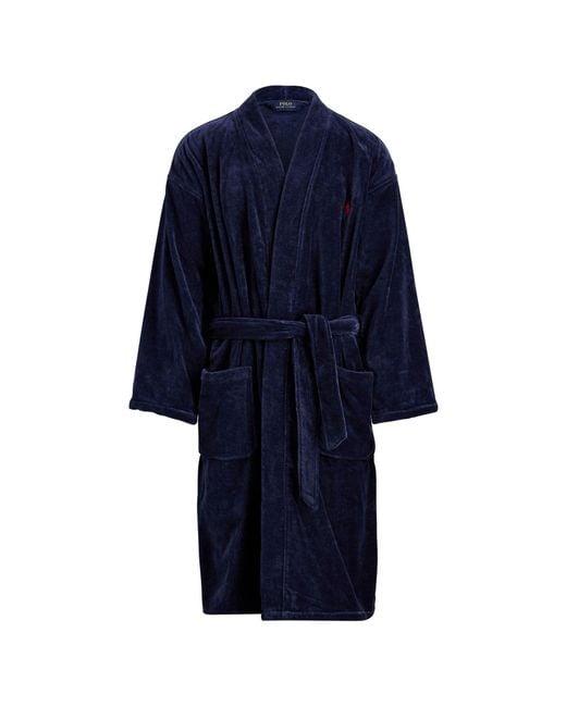 Polo Ralph Lauren - Blue Terry Kimono Robe for Men - Lyst