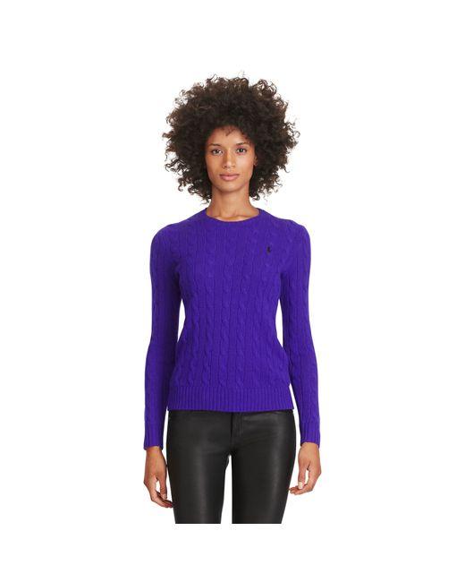 Polo Ralph Lauren | Purple Wool Crewneck Sweater | Lyst