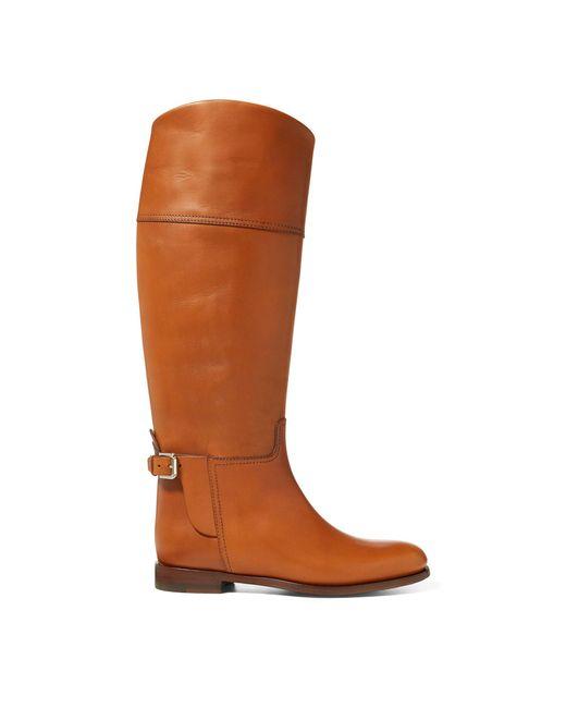 Ralph Lauren - Brown Sallen Calfskin Riding Boot - Lyst
