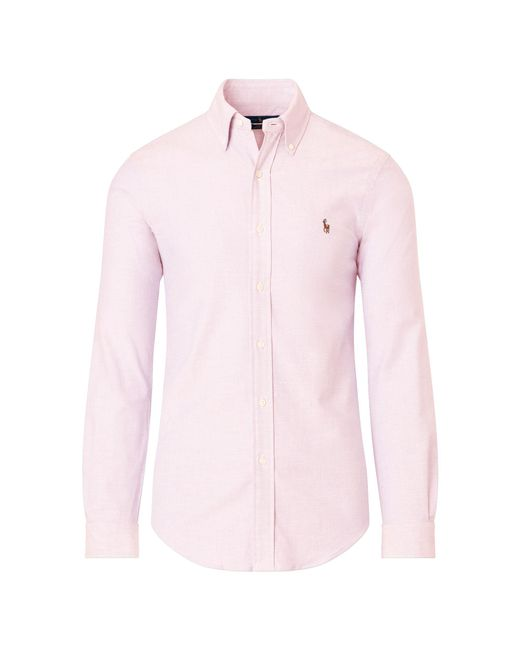 Polo Ralph Lauren - Pink Slim Fit Oxford Shirt for Men - Lyst