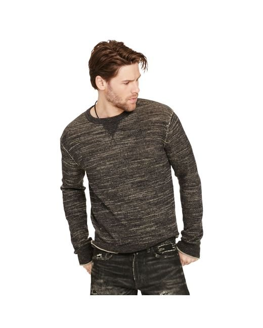 Denim & Supply Ralph Lauren | Brown Cotton Crewneck Sweater for Men | Lyst