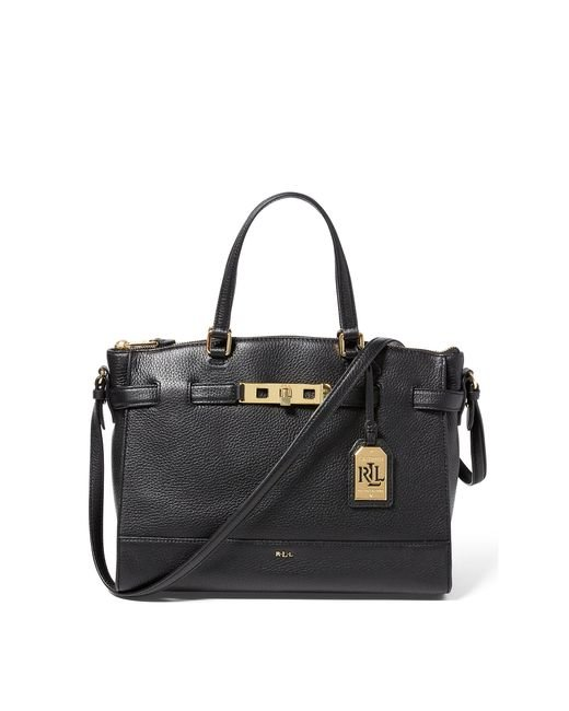Ralph Lauren | Black Leather Darwin Satchel | Lyst