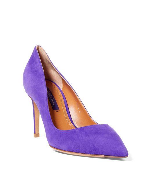 Ralph Lauren - Purple Armissa Suede Pump - Lyst