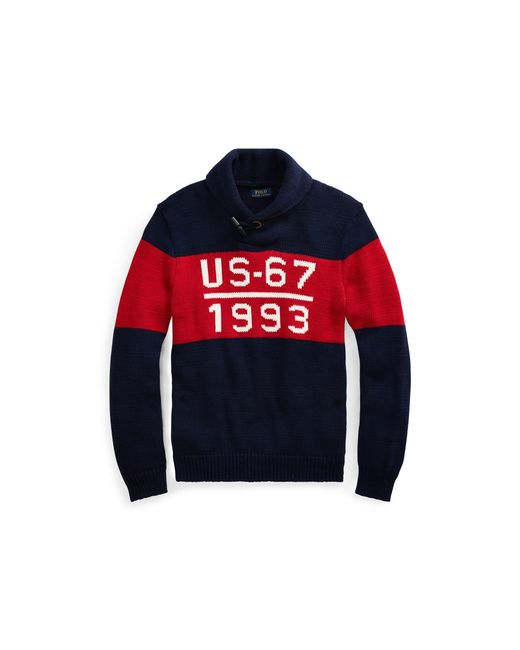 Polo Ralph Lauren - Blue Cp-93 Cotton Shawl Sweater for Men - Lyst