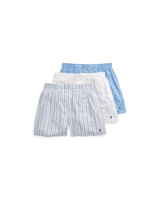 Polo Ralph Lauren - White Assorted Boxer 3-pack for Men - Lyst