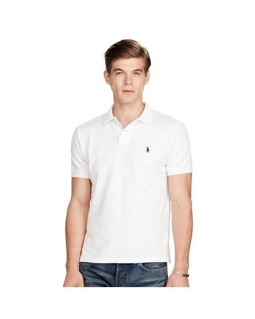 Polo Ralph Lauren | White Custom-fit Mesh Polo Shirt for Men | Lyst