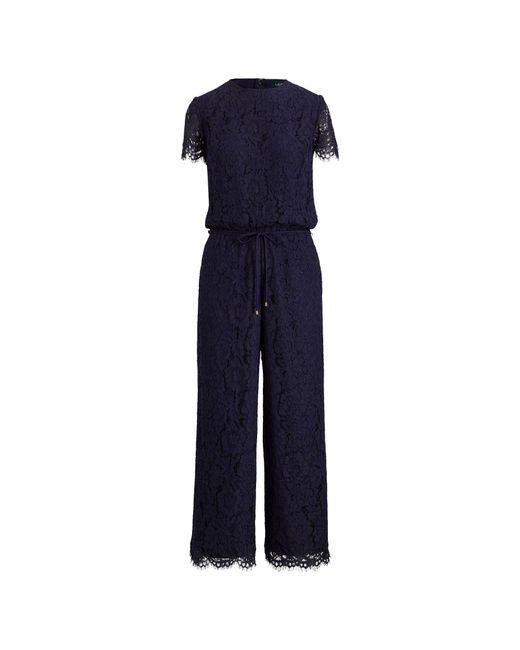 Ralph Lauren - Blue Lace Jumpsuit - Lyst