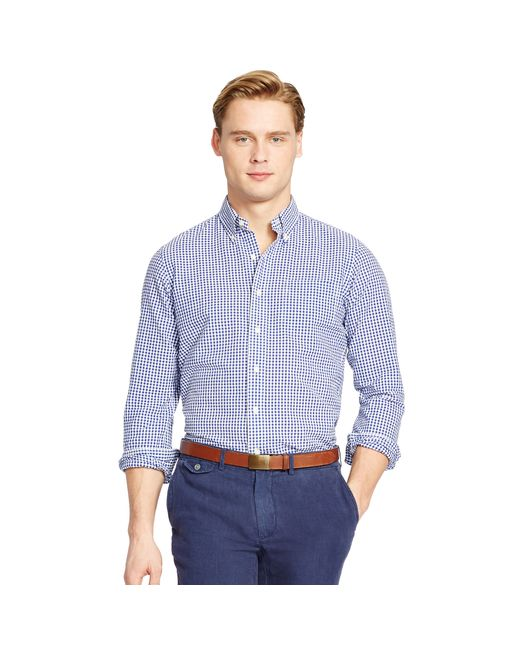 Polo Ralph Lauren | Blue Sports Shirt for Men | Lyst