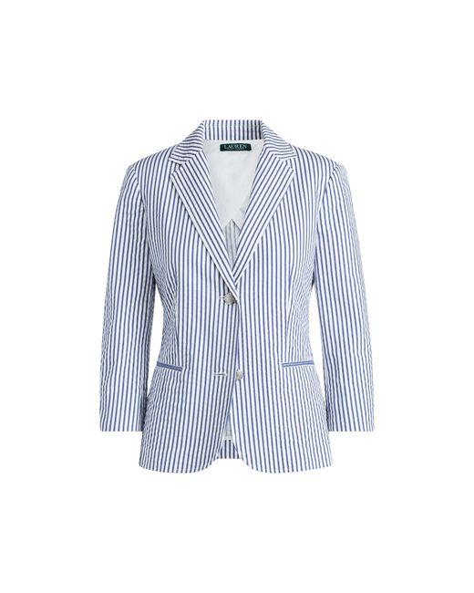 Ralph Lauren - Blue Striped Cotton Blazer - Lyst