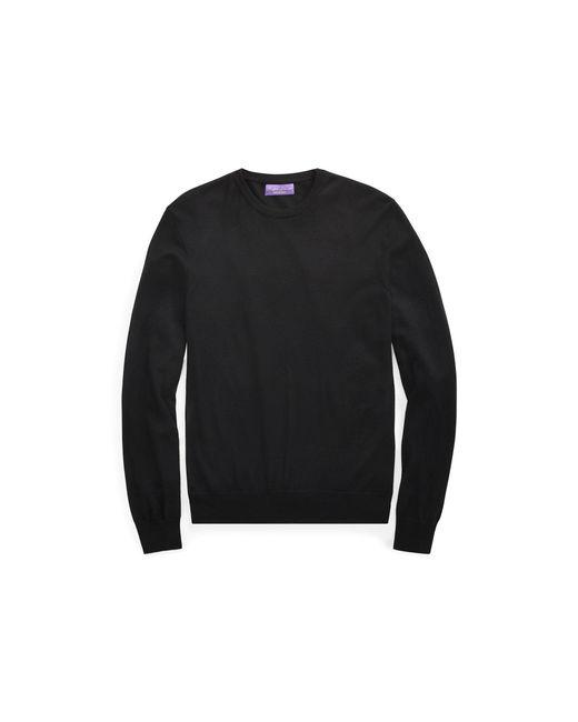 Ralph Lauren Purple Label - Black Cashmere Crewneck Sweater for Men - Lyst
