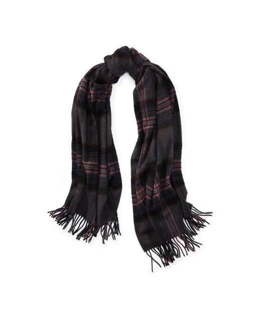 Polo Ralph Lauren | Gray Oversize Plaid Blanket Scarf | Lyst