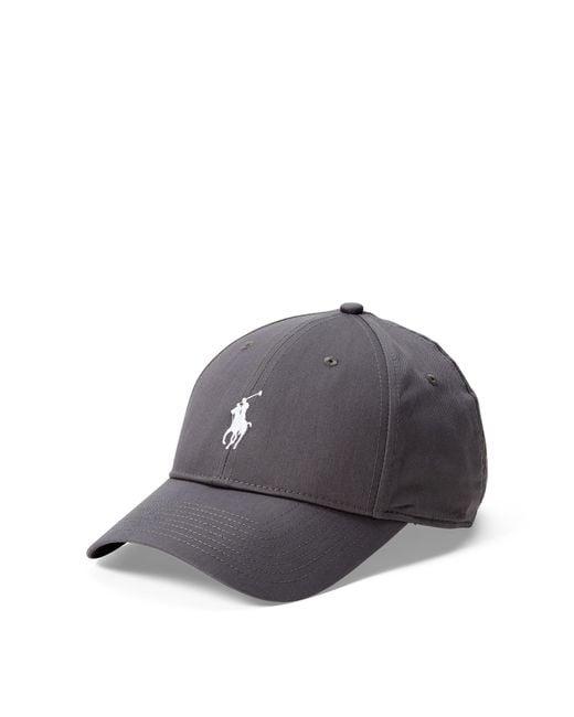 Polo Ralph Lauren | Gray Cotton Chino Baseball Cap for Men | Lyst