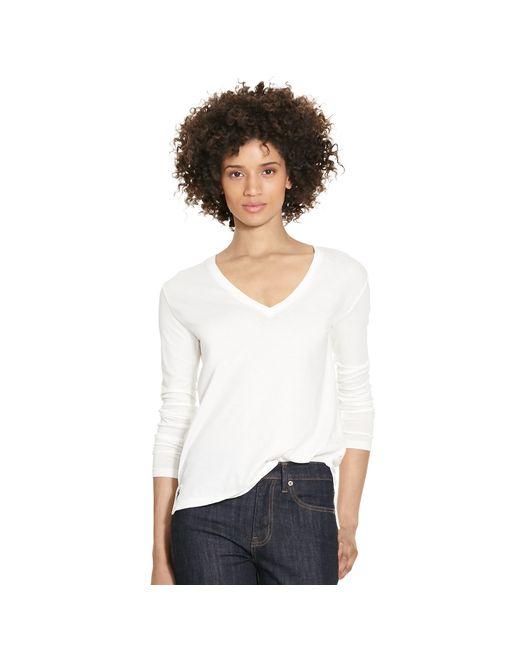 Polo Ralph Lauren | White Cotton V-neck Tee | Lyst