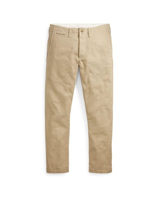 Polo Ralph Lauren - Natural Straight Fit Selvedge Chino for Men - Lyst