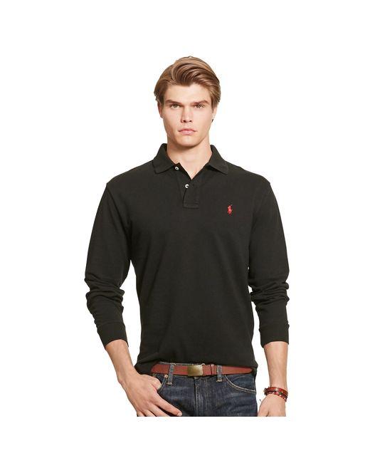 Polo Ralph Lauren | Black Classic-fit Cotton Mesh Polo for Men | Lyst