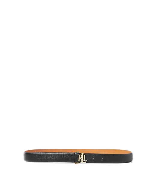 Ralph Lauren - Black Carrington Leather Belt - Lyst