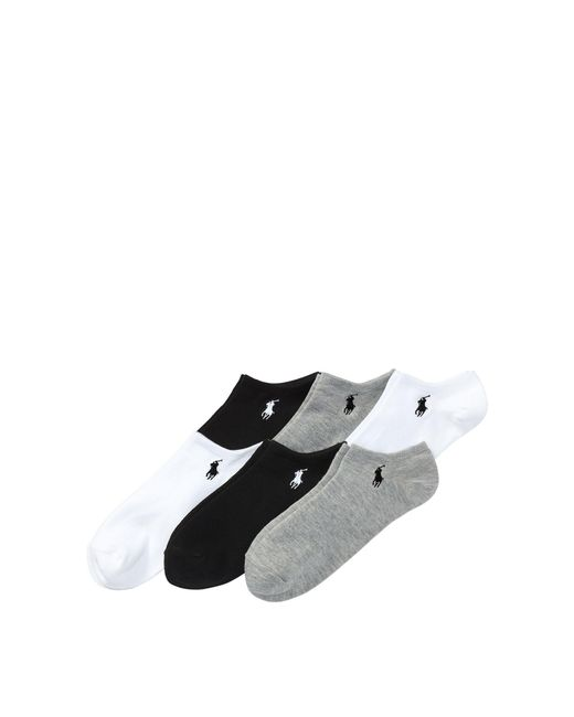 Polo Ralph Lauren - Purple Ultralow Sock 6-pack - Lyst