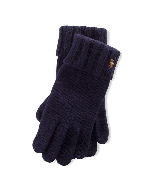 Polo Ralph Lauren | Blue Merino Wool Gloves for Men | Lyst