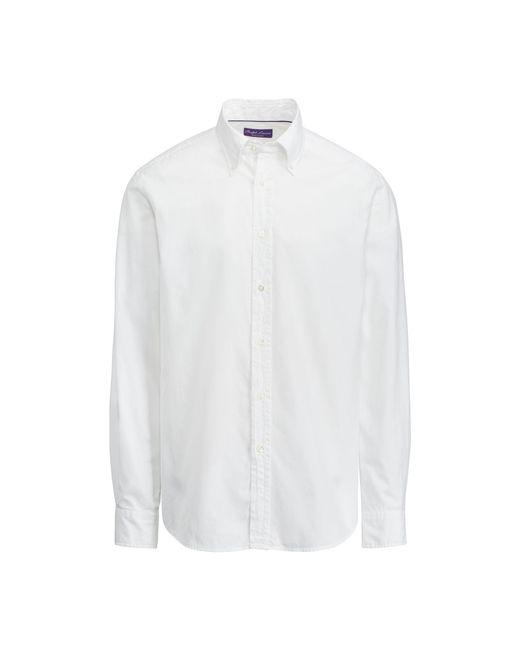 Ralph Lauren Purple Label - White Oxford Shirt for Men - Lyst