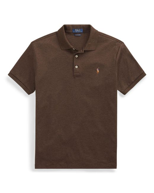 Polo Ralph Lauren - Brown Slim Fit Soft-touch Polo Shirt for Men - Lyst