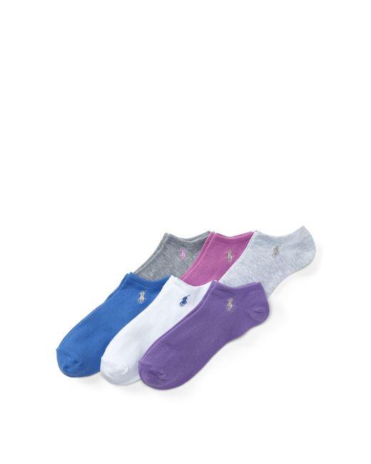Polo Ralph Lauren - Purple Ultralow Sock 6-pack - Lyst