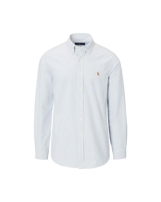 Polo Ralph Lauren - Blue Slim-fit Striped Oxford Shirt for Men - Lyst