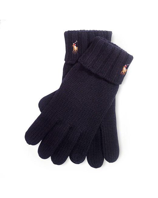 Polo Ralph Lauren | Black Merino Wool Gloves for Men | Lyst