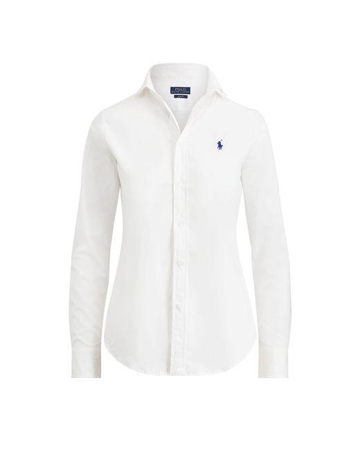 Polo Ralph Lauren   White Slim-fit Poplin Shirt   Lyst