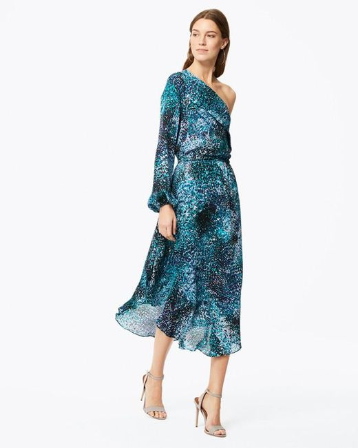 Ramy Brook - Blue Printed Courtney Dress - Lyst