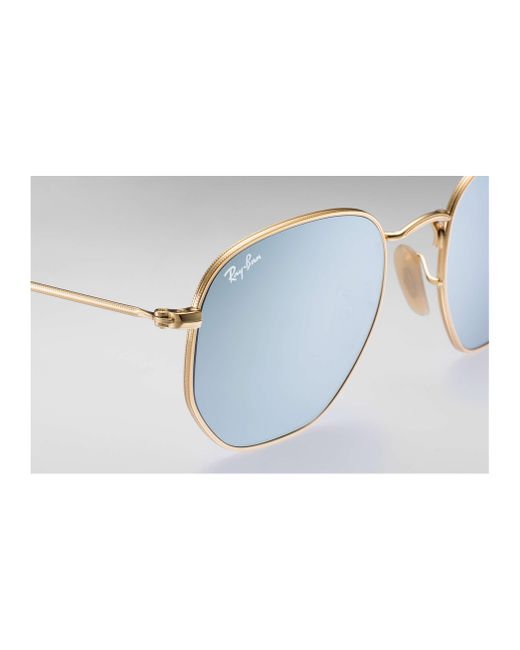 37a1b753ec ... Ray-Ban - Metallic Hexagonal Flat Lenses for Men - Lyst ...