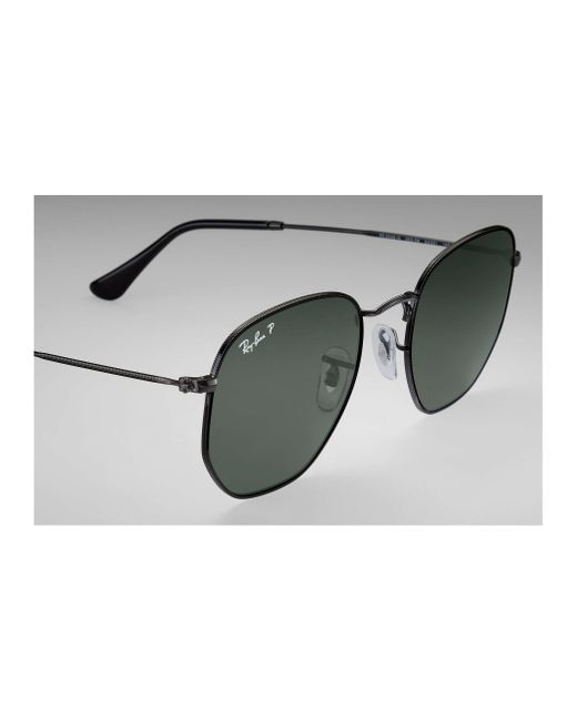 511d50846c ... Ray-Ban - Green Hexagonal Flat Lenses for Men - Lyst ...