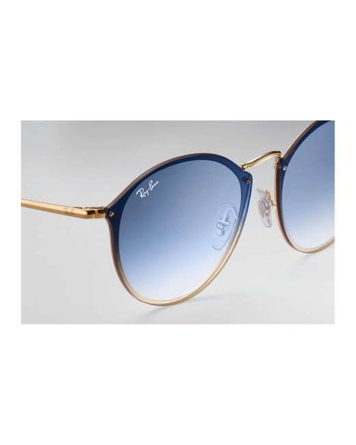 614208bb0a1 ... Ray-Ban - Blue Blaze Round for Men - Lyst ...